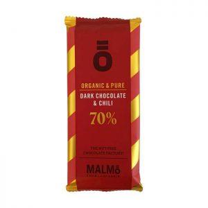 Malmö Chokladfabrik Dark Chocolate & Chili 70 55 gr.